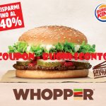 COUPON BUONI SCONTO BURGER KING