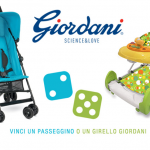 "VINCI UN GIRELLO GIORDANI ""SWEET CANDY"" O PASSEGGINO GIORDANI ""SUNSET LIGHT BLUE"""